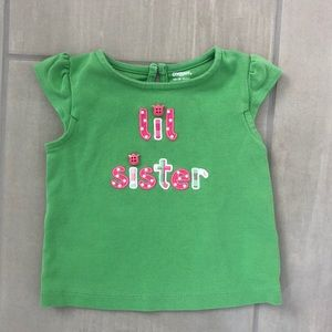 Gymboree little sister shirt